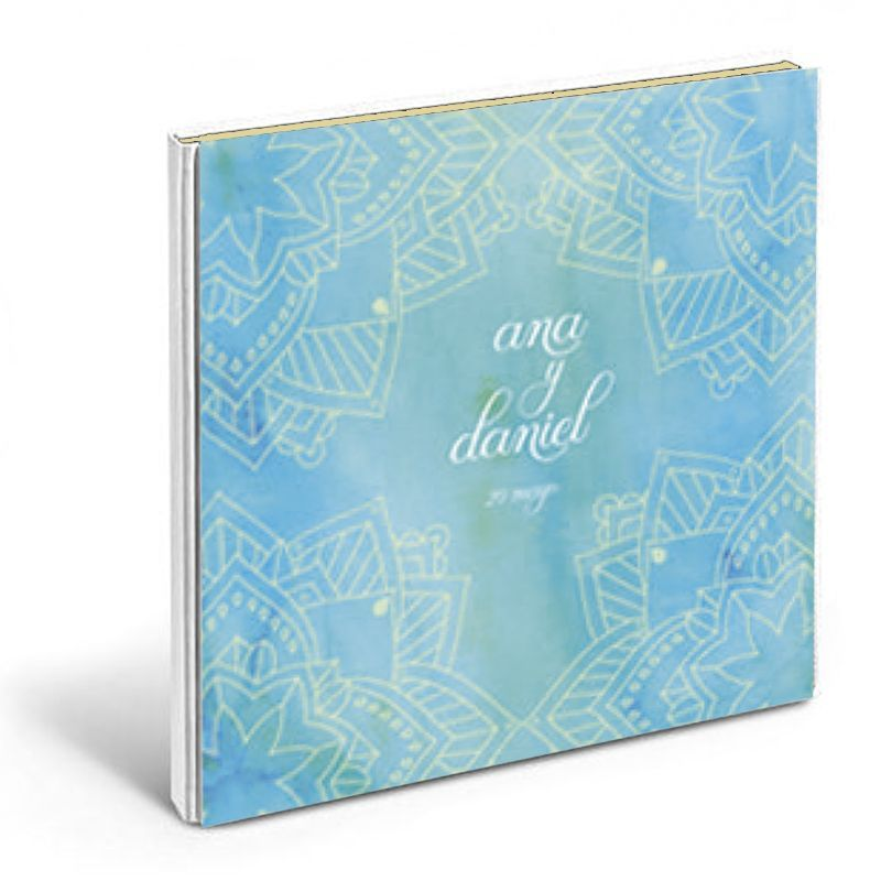 diseño mandala libro de firmas